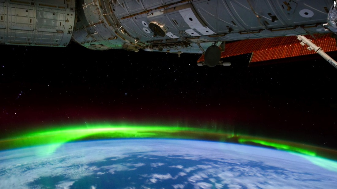 What aurora from space picture where