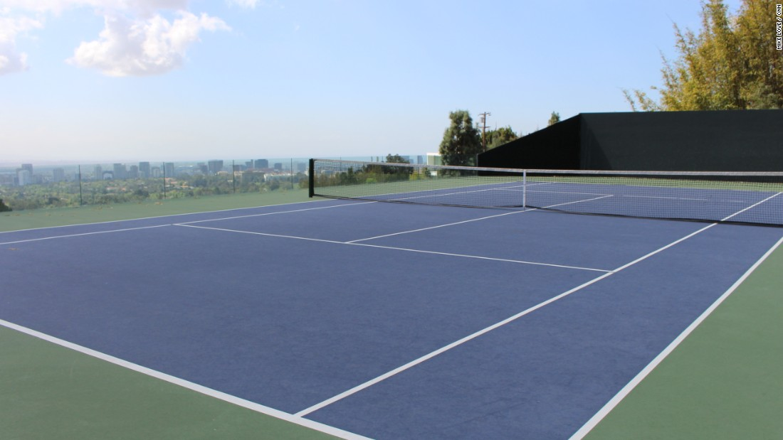 "Goldstein's ""infinity tennis court"" sits above Club James and is the scene of morning rallies between the owner and hitting coach Tony Graham. It also serves as the site of annual fundraiser events, and has been featured in commercials with Maria Sharapova and Roger Federer."
