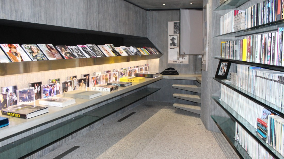 Goldstein's library features dozens of books on fashion and design -- many which have featured the Sheats Goldstein Residence in their pages.