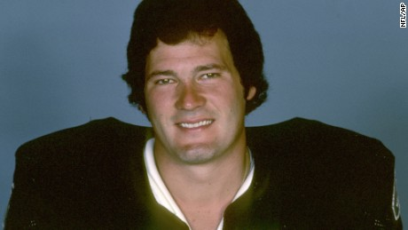 Phil Villapiano, shown in 1977, played for the Oakland Raiders.