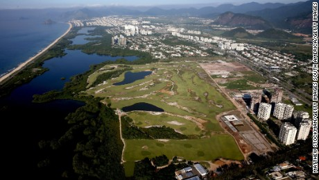 The Rio Olympic golf course in the Barra district has been dogged by controversy.