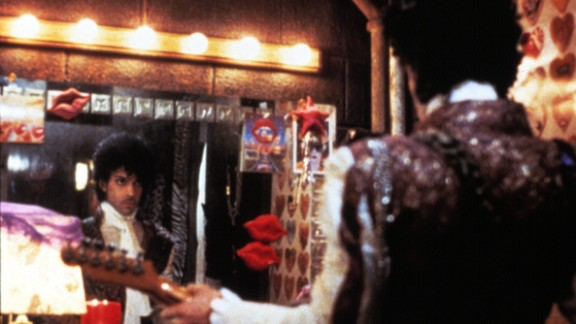 Prince, seen here on set, won an Oscar for the original song score for the classic film.