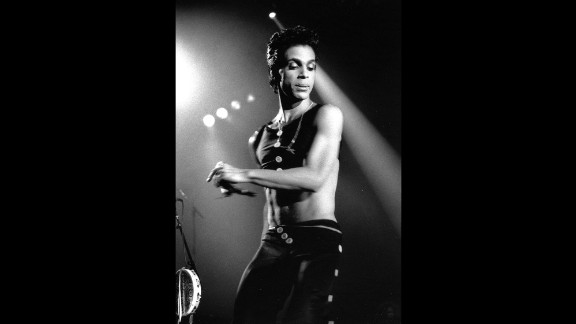 Prince performs at London's Wembley Arena in 1986.