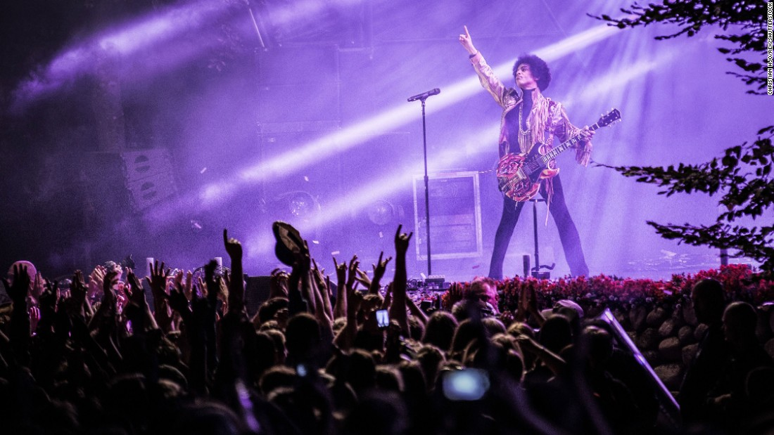 Prince performs at the 2013 Skanderborg Festival in Denmark.
