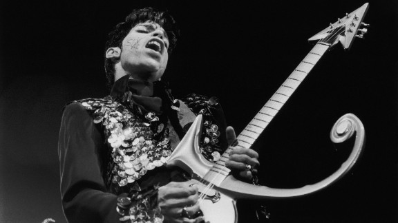 Prince performs in 1998.