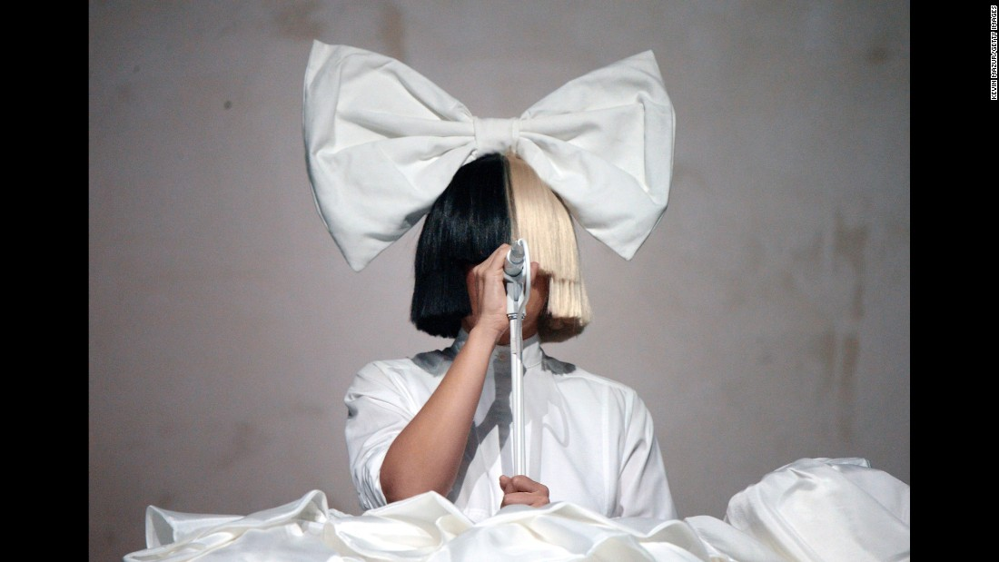 Sia performs onstage during Day 3 of the 2016 Coachella Valley Music And Arts Festival on Sunday, April 17, in Indio, California.