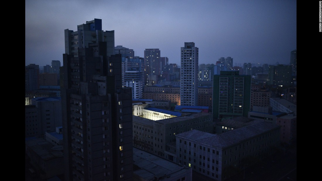 A picture made available on Tuesday, April 19, shows a city view at dawn of Pyongyang, North Korea. The Democratic People's Republic of Korea is to hold the party congress of its ruling Korean Workers Party for the first time in 36 years on May 2016.