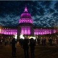 San Francisco city hall Prince purple