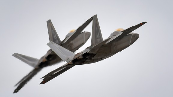 The twin-engine F-22 stealth fighter, flown by a single pilot and armed with a 20mm cannon, heat-seeking missiles, radar-guided missiles and radar-guided bombs, can perform both air-to-air and air-to-ground missions. The service has 183 of the Raptors, which went operational in 2005.