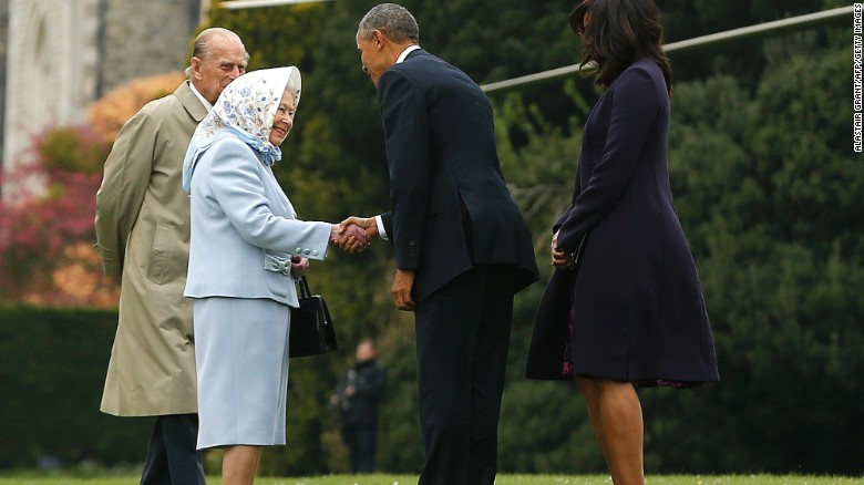 Barack Obama and Queen Elizabeth do lunch