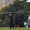 Obama arives in England April 22, 2016