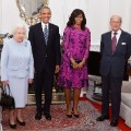 The Obamas pose with Queen Elizabeth and Prince Phillip