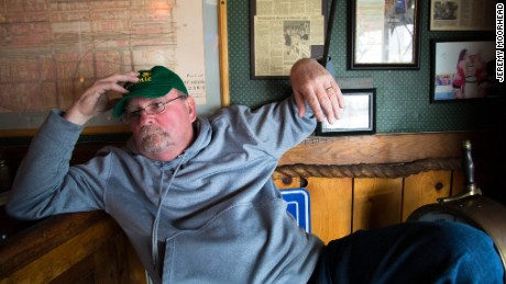 "Most days, you can find Tim Wiles sitting in the corner of the Swannie House, a bar in Buffalo that he has owned for more than 30 years. Born and raised in the city, after the big steel mills in the area closed, Wiles, 60, said everyone fled. ""Anybody that graduated from college, the only thing they could do was get out,"" he says.  The city had gone through such hard times, he says, that when the 2008 financial crisis hit, some in his community hardly felt it: ""We didn't suffer because we'd been suffering for so long."" Wiles thinks Donald Trump is the most qualified presidential candidate, and is furious about the efforts within the Republican Party to stop the GOP front-runner from getting the nomination. ""If the Republicans don't lay off this an, I will never vote Republican,"" he says."