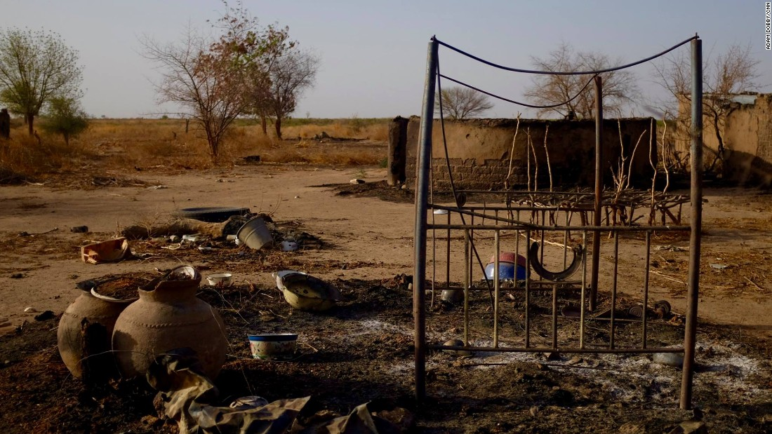 What Boko Haram couldn't loot, it burned to the ground. To this day, people remain afraid to return home.