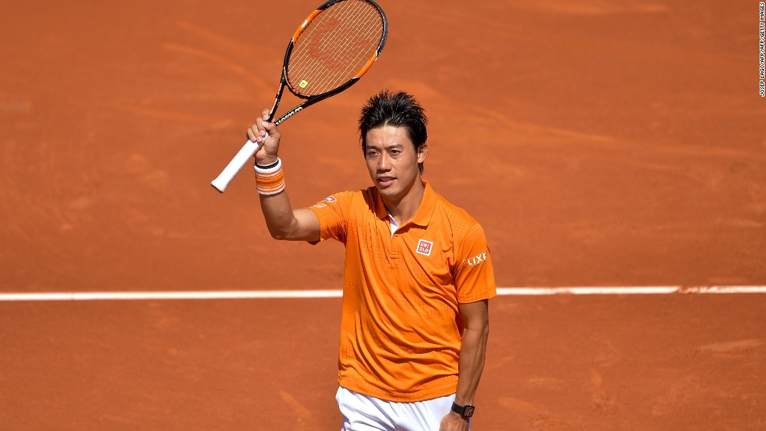 Nishikori overcame Benoit Paire 6-3, 2-6 in Saturday's other semifinal.