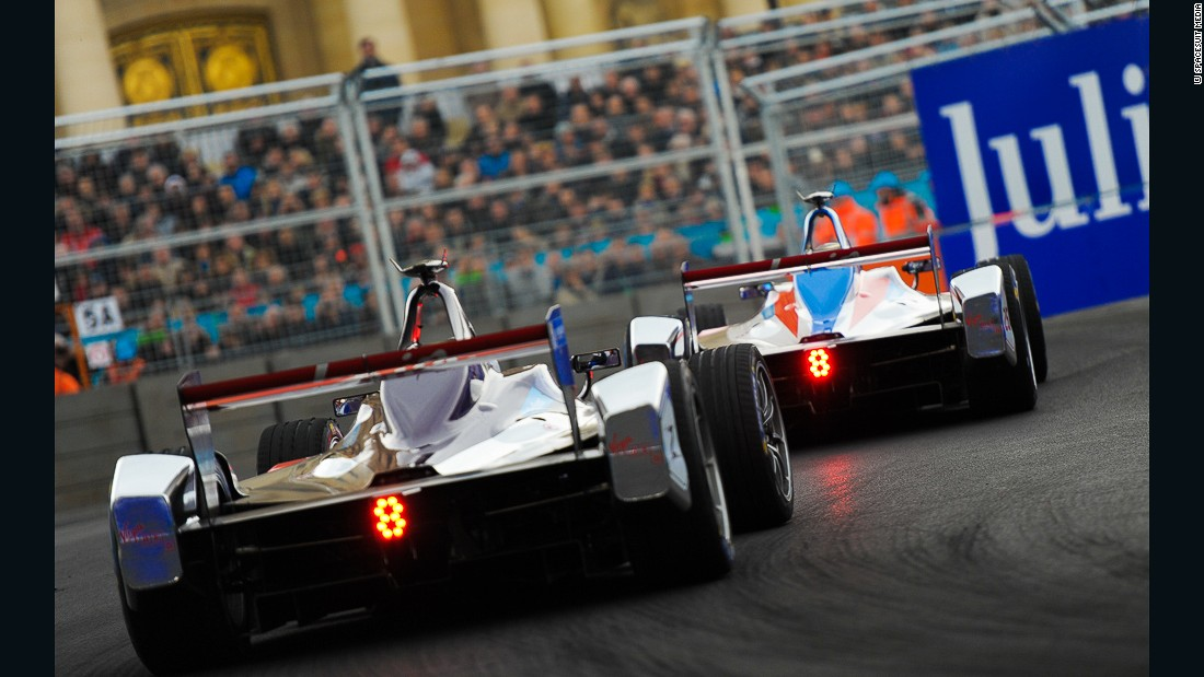 There was a 20,000 sell-out crowd for the first Formula E race in Paris.