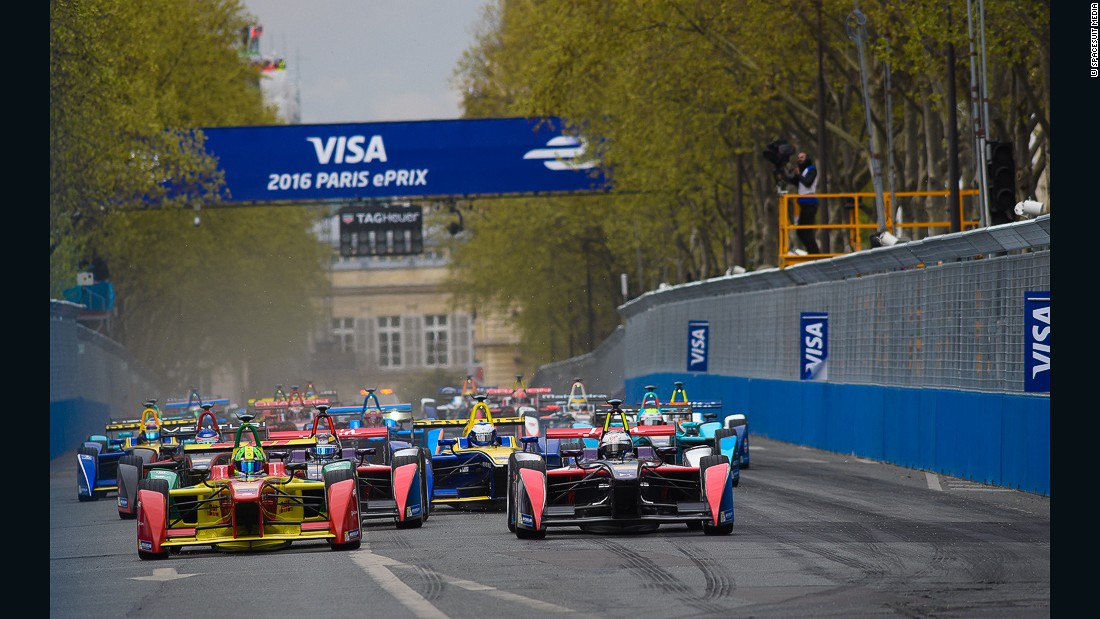Paris staged its first-ever Formula E race for electric cars at the weekend.