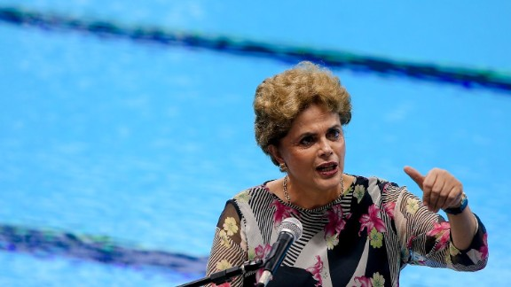 President Dilma Rousseff, facing impeachment proceedings, has still made appearances at Olympic venues. She opened the aquatics venue earlier in April.