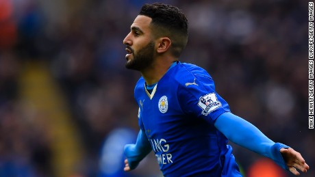 Algeria international Mahrez was named top player in the Premier League.