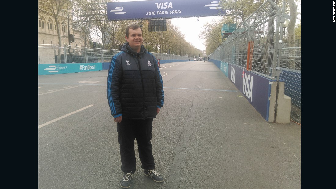 """I went to London last year for the final race of the season and I really enjoyed it,"" the Dubliner told CNN.<br />""I've never been to Paris so I thought I would come and see Formula E. I was originally an F1 fan and then heard about the new series and I fell in love with it. The action is very close compared to F1, where it's very spread out. Every since the first race in Beijing I've been getting up at ridiculous hours to watch Formula E. I was in London, Berlin last year, now Paris and I'll go to London again. I'm going to the PSG match as well and I'll do some sightseeing as well."""