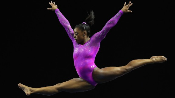 EVERETT, WA - APRIL 09:  Simone Biles of the United States competes in the floor exercise during Day 2 of the 2016 Pacific Rim Gymnastics Championships at Xfinity Arena on April 9, 2016 in Everett, Washington.  Biles won the all-around competition.  (Photo by Ezra Shaw/Getty Images)