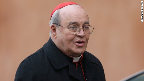 Havana Cardinal Jaime Lucas Ortega y Alamino, seen at the Vatican in February, has stepped down as the Catholic Church's top official in Cuba.