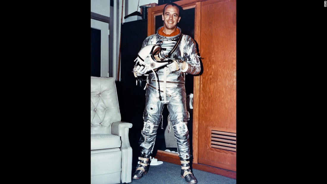 On May 5, 1961, Alan Shepard became the first American to travel into space. The 37-year-old piloted a 15-minute suborbital flight as part of NASA's Project Mercury.