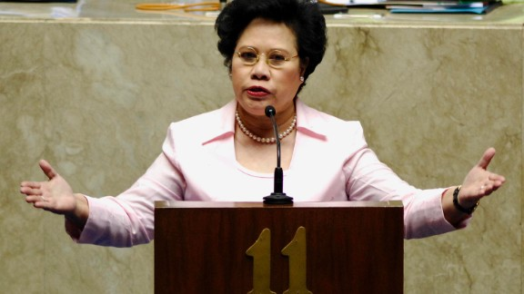 Miriam Defensor-Santiago is a long time civil servant and notable for having served in all three branches -- judicial, executive, and legislative -- of government. However, she was forced to take nearly six weeks off from the campaign scene due to her battle with stage four lung cancer, not helping her position -- she has consistently placed at the bottom of multiple race surveys.