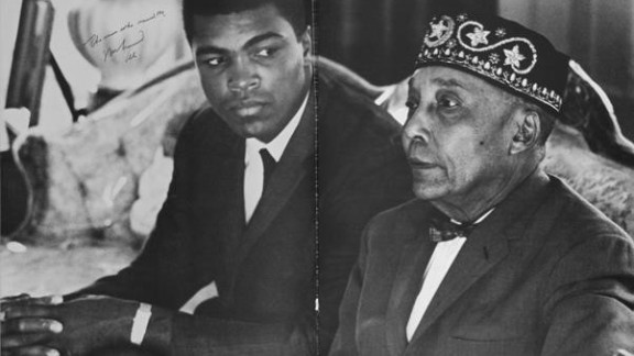 Ali with Elijah Muhammad -- who gave him his new name.