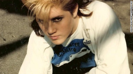 Nique Quesada took fashion cues from Nick Rhodes in 1986.