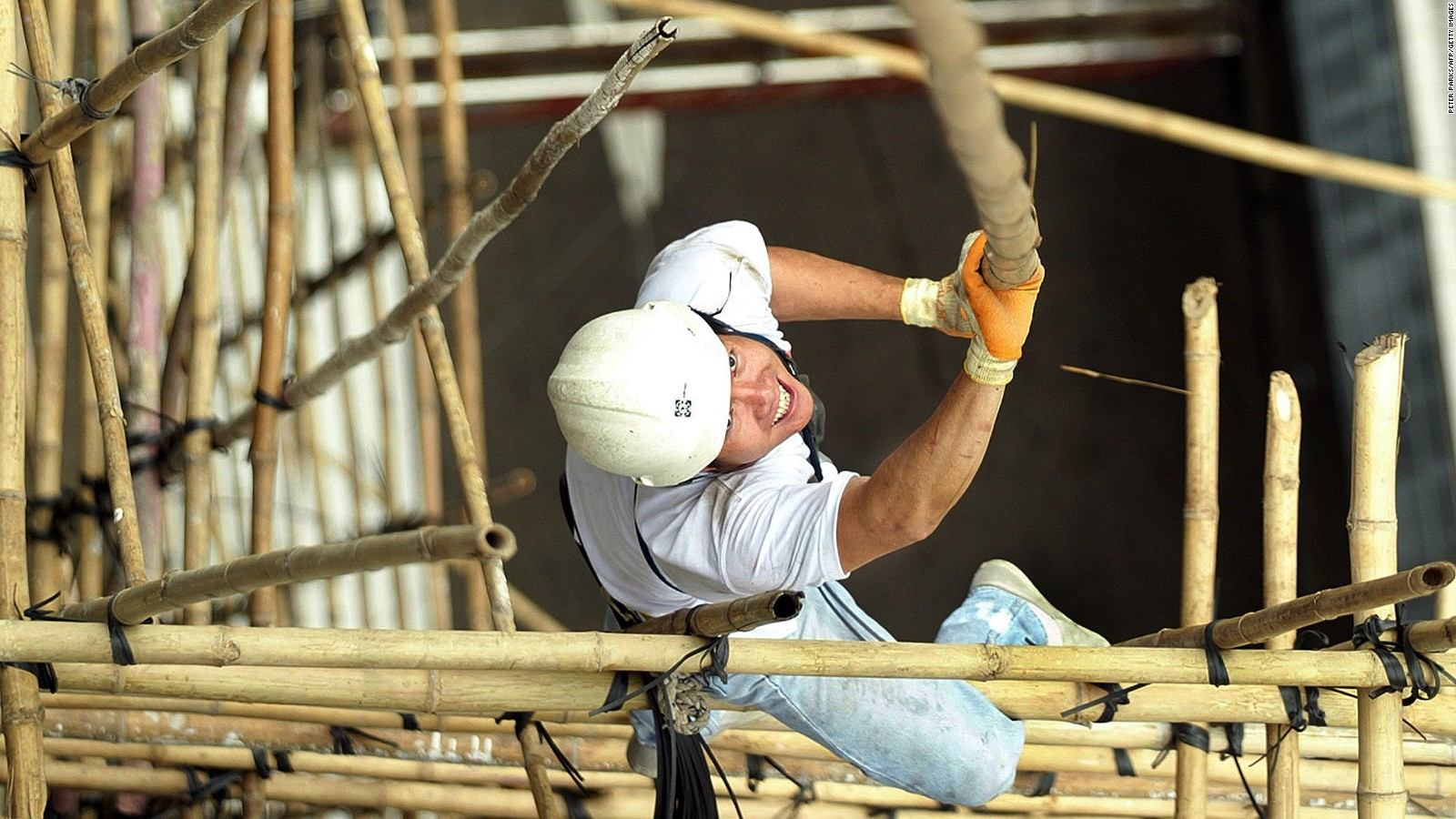 How Authentic Is This Bamboo Scaffolding Pop Up Bar Cnn Travel Worker Making Wiring Loom Stock Photo Getty Images