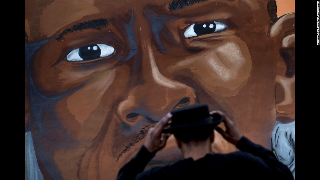 "A mural dedicated to Freddie Gray is seen in Baltimore on Monday, April 25. Riots broke out throughout the city last year after Gray died in police custody. <a href=""http://www.cnn.com/2015/09/02/us/baltimore-freddie-gray-death-case/"" target=""_blank"">The case</a> raised long-simmering tensions between police and residents, and six police officers were eventually charged in connection with Gray's death."