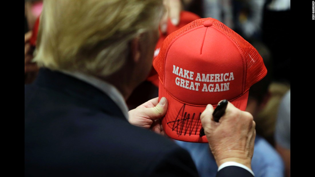 "Republican presidential candidate Donald Trump signs an autograph for a supporter after speaking in Chester, Pennsylvania, on Monday, April 25. The next day, Trump <a href=""http://www.cnn.com/2016/04/26/politics/primary-results-highlights/"" target=""_blank"">won the Pennsylvania primary and races in four other states.</a>"