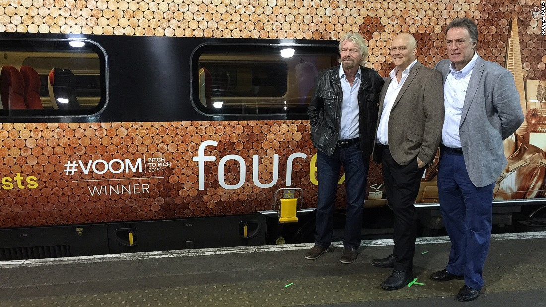 Founders of Fourex Jeff Paterson and Oliver du Toit pose for the cameras with billionaire entrepreneur, Richard Branson.