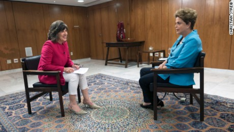 Amanpour to Rousseff: You're 'rated one of the worst leaders'