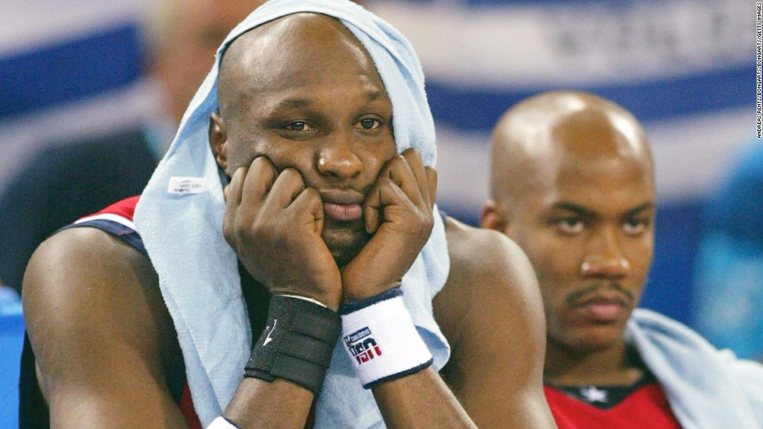 <strong>2004 Olympic basketball: </strong>Lamar Odom and Stephon Marbury can't quite believe what they're witnessing in Athens. NBA pros lost for the first time ever at the Olympics when they fell to Puerto Rico in the opening game. They would also lose to Argentina and Lithuania on their way to a bronze.