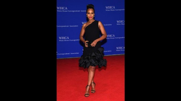 Actress Kerry Washington attends the 102nd Annual White House Correspondents' Association Dinner in Washington, D.C. on Saturday, April 30.