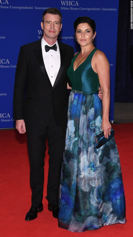 "Actors Scott Foley and Marika Dominczyk. The night is laced with humor and an address by the president. ""It's a good thing for Washington to take itself down a peg for a night,"" said chief White House speechwriter Cody Keenan, who oversees the three-week-long process of putting the speech together. ""There's nobody in America who would say 'hey, these politicians are poking fun at each other too much.' Because there's so much to make fun of!"""