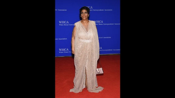 Aretha Franklin attends the 102nd White House Correspondents