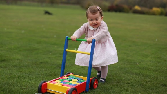 Kensington Palace released four photos of Princess Charlotte ahead of her first birthday in May 2016.