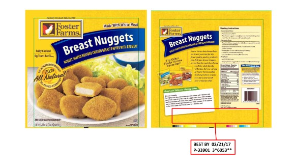 Foster Farms is recalling more than 220,000 pounds of frozen chicken nuggets after concerns they've been contaminated with plastic and rubber material. The products were sold in Alaska, Idaho, Montana, Oregon, Utah, Washington, California and Arizona.