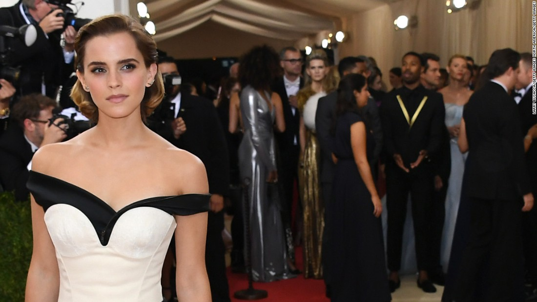 Emma Watson dons dress made of this - CNN Video