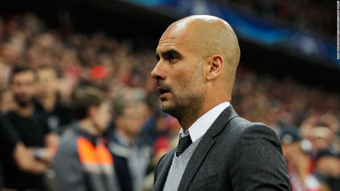 Pep Guardiola, who is set to join Manchester City at the end of the season, watched on as his team laid siege to the Atletico goal.