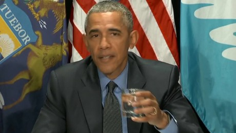 "Pres. Obama drinks filtered Flint water, says ""it's safe"""