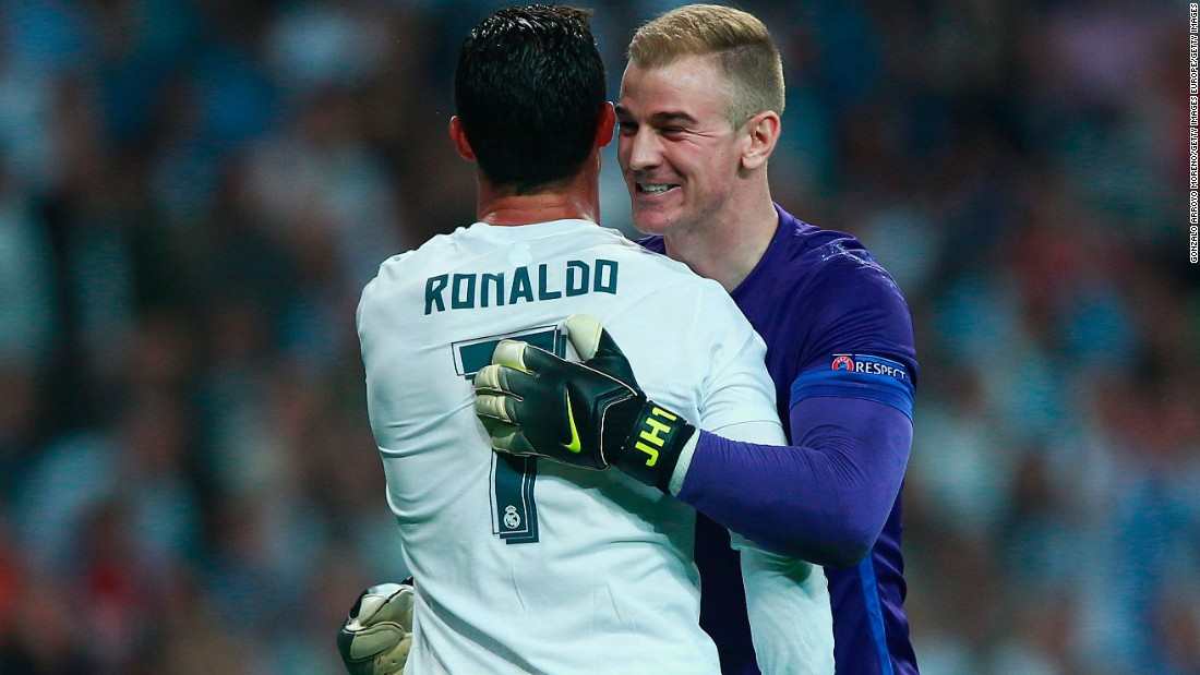 Joe Hart, the City goalkeeper, made a number of impressive saves to deny Ronaldo as well as Luka Modric as Real pushed for a second goal.