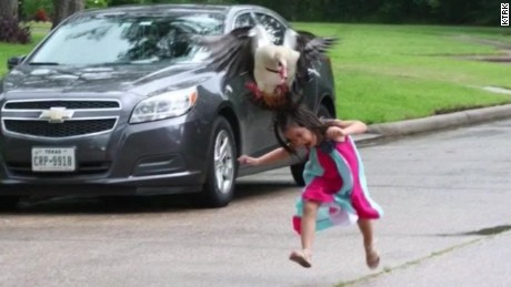 texas goose attack 5 year old viral pictures pkg_00010011