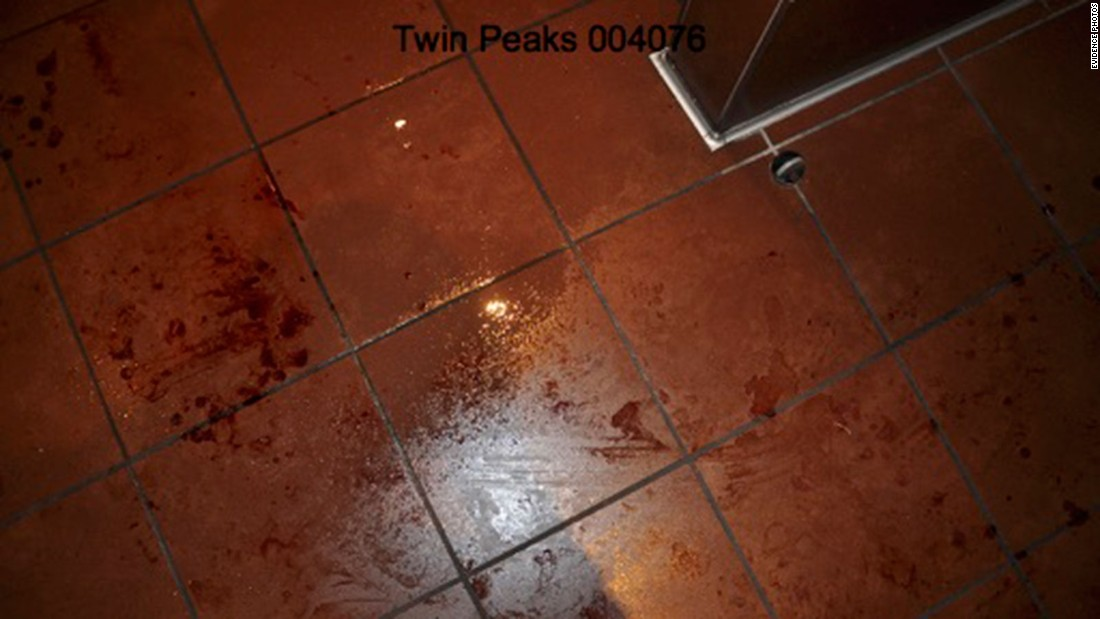 An officer from the Waco Police Department discovered blood smeared across the Twin Peaks bathroom floor.