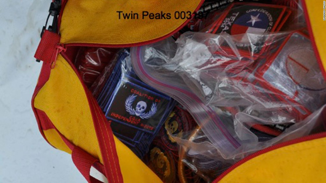 f818efbbed A duffel bag is filled with patches of the Confederation Of Clubs  amp amp