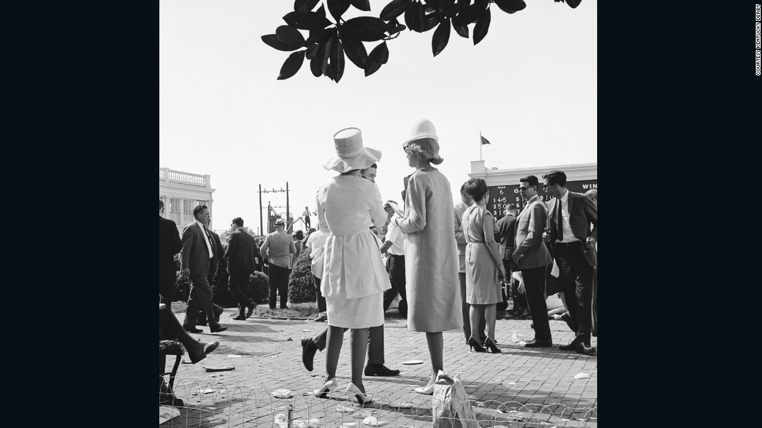 "In the 1960s, hemlines were on the rise. Meanwhile, on the other side of the globe at Australia's Melbourne Cup, model Jean Shrimpton was causing a stir in a miniskirt that <a href=""http://edition.cnn.com/2012/11/01/sport/jean-shrimpton-melbourne-cup-fashion/"">""stopped the nation."" </a><br />""By the time you get to the 1960s wearing hats was no longer typical,"" said Goodlet.<br />""But the Derby keeps this tradition -- even when other social occasions don't."" <br />"