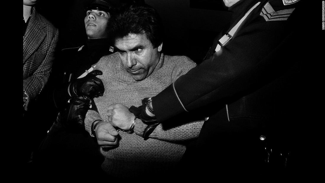Notorious Mafia boss Leoluca Bagarella is arrested in Palermo, Italy, in 1980. Photographer Letizia Battaglia has spent her career documenting Mafia crimes in her native Sicily.